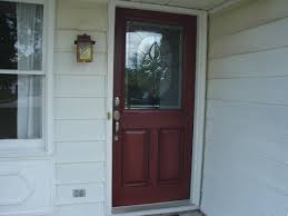 colors for front doors door red therma tru entry doors with black handle plus lamp on
