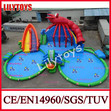 china giant outdoor inflatable water park lobster water park