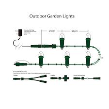 garden fairy lights outdoor christmas lights xmasdirect