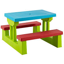 kids outdoor picnic table parkland colourful kids children picnic table bench set amazon co