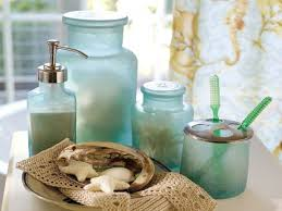 Beachy Bathroom Accessories by Beach Themed Bathroom Ideas Beach Glass Bathroom Accessories