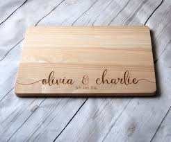 personalised cutting board custom name chopping board for couples personalised cutting