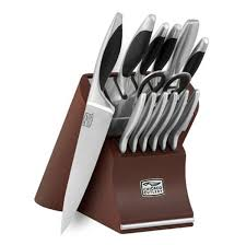 chicago cutlery kitchen knives chicago cutlery landmark knife block set 14 cutlery and more