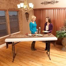 4 foot adjustable height table amazon com lifetime 22920 height adjustable folding utility table