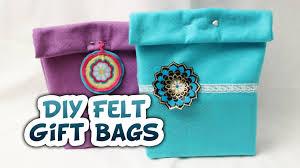 diy felt gift bags very easy whitney sews youtube