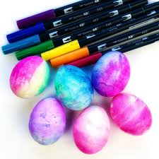 dye for easter eggs how to tie dye easter eggs with brush pens color made happy