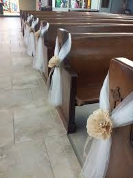 Fall Wedding Aisle Decorations - wedding aisle chair decorations pew decoration tulle and paper