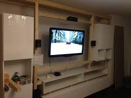 Wohnzimmerm El Mit Led Haus Renovierung Mit Modernem Innenarchitektur Ehrfürchtiges Tv