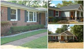 Front Porches On Colonial Homes by Before And After Ranch Style Home Into Craftsman Style Home