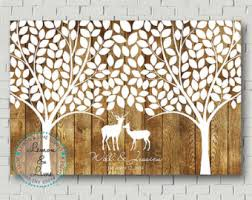 tree signing for wedding rustic wedding guest book wood guest book wedding signs
