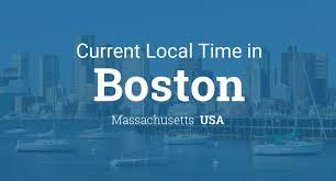 Time Zone Map Of United States by Current Local Time In Boston Massachusetts Usa