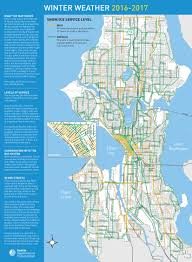 Seattle Districts Map by Sdot Winter Storm Information