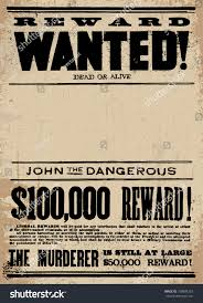 royalty free vector vintage wanted poster template u2026 160864253
