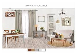 provence style living room collage by irina grigor