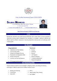 Sample Resume For Ccna Certified Sample Resume For Freshers Ccna Augustais