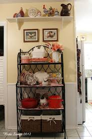 furnitures bakers rack with cabinet decorating ideas best on