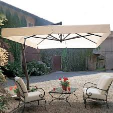 Heavy Duty Patio Umbrellas 9 5 Square Heavy Duty Aluminum Cantilever Patio Umbrella On Sale Now