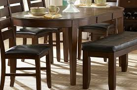 Dining Room Table Leaf - ameillia 6 pc oval dining set with butterfly leaf table 4 side
