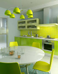 mural of color your modern minimalist kitchen with soft light
