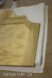 How To Make A Bamboo Headboard by How To Build An Upholstered Bed View Along The Way