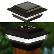 4x4 solar post lights imperial 4x4 metal led solar post cap light