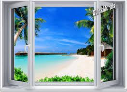 resort window 1 piece canvas peel stick wall mural beach resort window 1 piece canvas peel stick wall mural