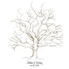 wedding guest book alternative wedding tree finger print tree