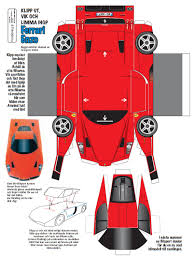 minecraft ferrari the exciting ferrari enzo papercraft template and cars