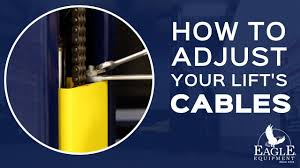 how to adjust your lift u0027s cables eagle equipment automotive lifts