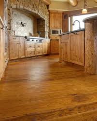 Handscraped Hickory Laminate Flooring Hand Scraped Edge Texture In A Kitchen