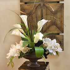 Fake Flower Arrangements Floral Home Decor Calla Lily And Orchid Silk Flower Arrangement