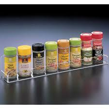 cabinet door mounted spice rack this acrylic spice rack allows you to easily store spice jars and