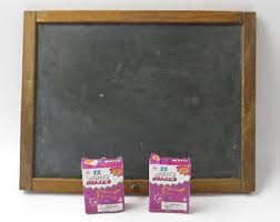 Retro Chalkboards For Kitchen by Vintage Chalkboard Easel Etsy