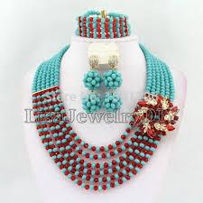 african wedding bead necklace images Chilazexpress 2017 new orange african beads jewelry set dubai women ch jpg
