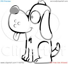 free coloring pages of dog sitting coloring page dog house in