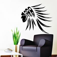 chambre n ative stickers muraux tribal coiffe decal vinyle autocollants