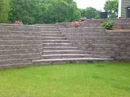 allan block retaining wall for garden u2014 farmhouse design and furniture