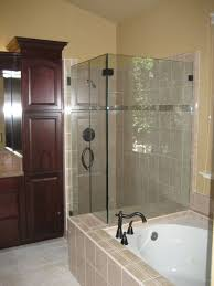 Wood Shower Door by Pleasanton Glass Company