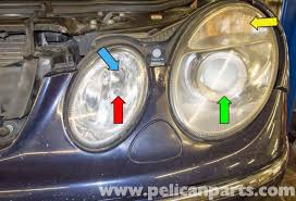 mercedes benz w211 headlight replacement 2003 2009 e320 e500