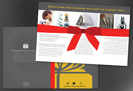 half fold brochure template for gift shop retail store order