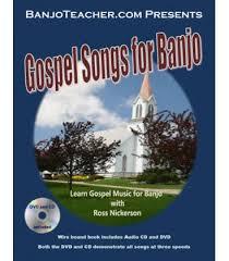 gospel for banjo book and dvd 5 string banjo gospel songs