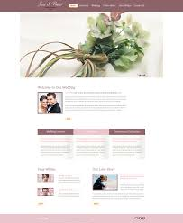 free website template wedding