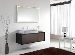 comely dark brown wall mounted vanity design ideas also