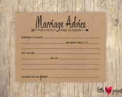 advice to the and groom cards words of wisdom advice cards wedding advice card newlyweds