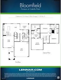 lennar floor plans bloomfield 3 bedroom model
