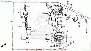 honda atc200es big red 1984 e usa carburetor schematic partsfiche