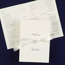Wedding Programs With Ribbon The 8 Best Images About Wedding Programs On Pinterest