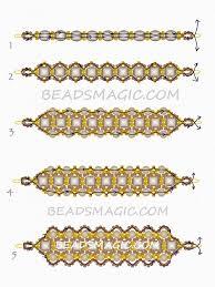 free beaded pattern for bracelet dark honey beads magic more