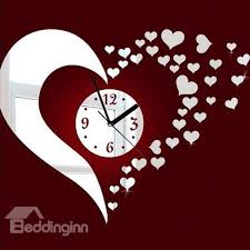 heart shaped items stunning beautiful heart shaped mirror acrylic wall clock