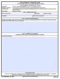 Da Form 4856 Initial Counseling Fillable Fillable Da 4856 Developmental Counseling Form Pdf